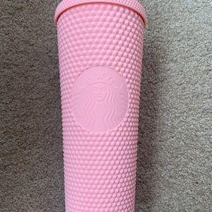 Starbucks pink matte studded tumbler new
